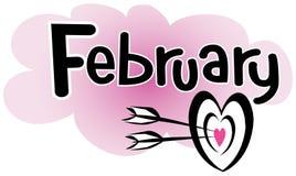 Februar lizenzfreie abbildung