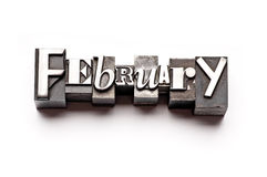 Februar Lizenzfreie Stockfotos