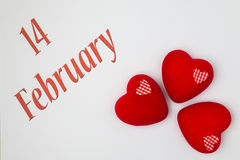 14. Februar Stockfoto