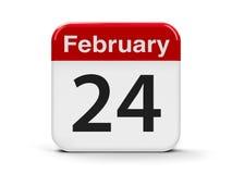 24. Februar lizenzfreie abbildung