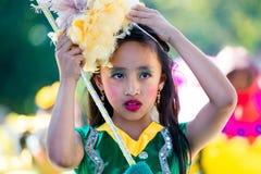 27. Februar 2015 Baguio, Philippinen Blumen-Festival Baguio Citys Panagbenga Stockfotografie