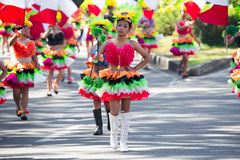 27. Februar 2015 Baguio, Philippinen Blumen-Festival Baguio Citys Panagbenga Lizenzfreie Stockbilder