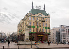 27. Februar 2017 - Belgrad, Serbien - das berühmte Vier-Stern-Hotel Moskva in der Mitte von Belgrad Stockbild