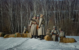 26. Februar 2017 der Feiertag von Maslenitsa in Borodino Stockfoto