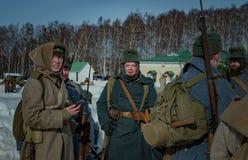 26. Februar 2017 der Feiertag von Maslenitsa in Borodino Lizenzfreies Stockbild