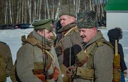 26. Februar 2017 der Feiertag von Maslenitsa in Borodino Lizenzfreies Stockfoto