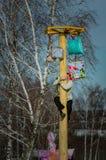 26. Februar 2017 der Feiertag von Maslenitsa in Borodino Lizenzfreie Stockfotos