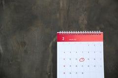 Februar der Monat der Liebe Stockfoto