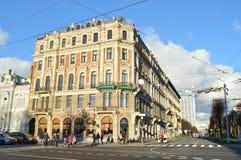 FEBRUAR 2014: Die Straßen von altem Prag Lizenzfreie Stockfotos