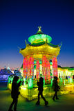 Februar 2013 - Harbin, China - internationales Eis und Schnee-Festival Stockfotos