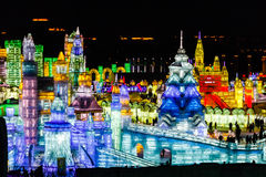 Februar 2013 - Harbin, China - internationales Eis und Schnee-Festival Lizenzfreie Stockfotos