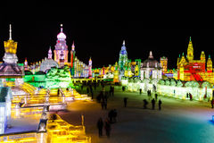 Februar 2013 - Harbin, China - internationales Eis und Schnee-Festival Lizenzfreies Stockbild