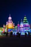 Februar 2013 - Harbin, China - internationales Eis und Schnee-Festival Lizenzfreie Stockbilder