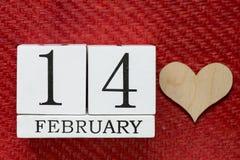 14. Februar Hintergrund Stockfotografie