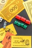 8. Februar 2015: Houston, TX, USA Monopolgeld, Torte spielend Stockfotografie