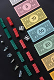 8. Februar 2015: Houston, TX, USA Monopolgeld und Spielen Stockbild