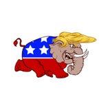 20. Februar 2017 Illustration Donald Trump stockbild