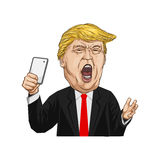 20. Februar 2017 Illustration Donald Trump lizenzfreies stockbild