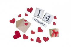 14. Februar Kalender Lizenzfreies Stockfoto