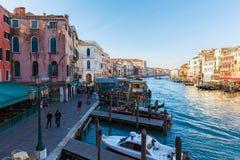 25. Februar 2017 Landschaft von Venedig mit Blick auf den Fluss Stockfoto
