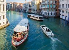 25. Februar 2017 Landschaft von Venedig mit Blick auf den Fluss Lizenzfreie Stockfotos