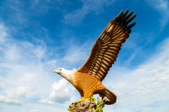 Februar 2017 - Langkawi, Malaysia - Eagle Square Lizenzfreie Stockfotografie