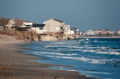 9. Februar 2014 Strandabnutzung Brunswick County, USA Stockfotografie