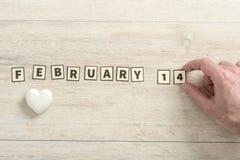 14. Februar Valentinsgrußhintergrund Stockfotografie