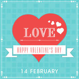 14. Februar Valentinstagfeierkonzept Lizenzfreies Stockbild