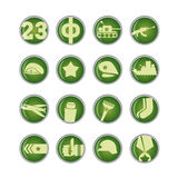 23. Februar Verteidigertag in Russland, Ikone Lizenzfreies Stockfoto