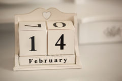 14. Februar Weinlesekalender Stockbilder