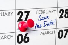 Februari 27 Royaltyfria Foton