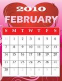 Februari 2010 royalty-vrije illustratie