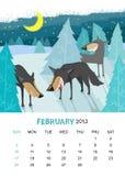 Februari royaltyfri illustrationer