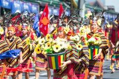 27 februari, 2015 Baguio, Filippijnen Baguio Citys Panagbenga F Royalty-vrije Stock Fotografie