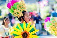 27 februari, 2015 Baguio, Filippijnen De Bloemfestival van Baguiocitys Panagbenga Stock Foto's