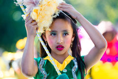 27 februari, 2015 Baguio, Filippijnen De Bloemfestival van Baguiocitys Panagbenga Stock Fotografie