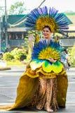 Februari 27, 2015 Baguio, Filippinerna Baguio Citys Panagbenga F arkivfoto