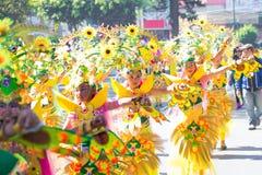 Februari 27, 2015 Baguio, Filippinerna Baguio Citys Panagbenga F royaltyfri bild