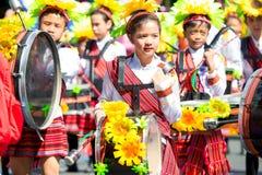 Februari 27, 2015 Baguio, Filippinerna Baguio Citys Panagbenga F Arkivbild
