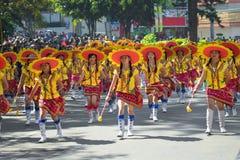 Februari 27, 2015 Baguio, Filippinerna Baguio Citys Panagbenga F Arkivbilder