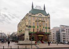 27 februari 2017 - Belgrado, Servië - het beroemde viersterrenhotel Moskva in het centrum van Belgrado Stock Afbeelding