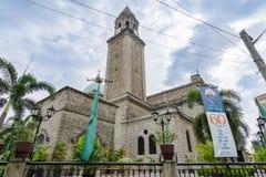 21,2018 februari bij voorzijde van Intramuros de Kathedraalklokketoren van Manilla, Manilla Stock Afbeeldingen