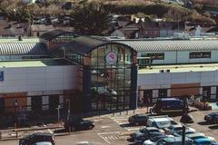 28 februari, 2017, Cork, Ierland - luchtmening van het Winkelende Centrum van Blackpool Royalty-vrije Stock Fotografie