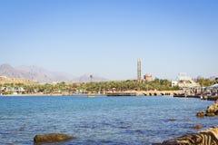 Februari-dag op het strand in Sharm el Sheikh Stock Foto's
