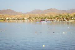 Februari-dag op het strand in Sharm el Sheikh Stock Afbeelding