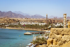 Februari-dag op het strand in Sharm el Sheikh Royalty-vrije Stock Foto's