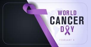 4 februari, de Dag van Wereldkanker Het creatieve ontwerp van de groetkaart vector illustratie