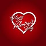 14 februari de Gelukkige Kaart van de Valentijnskaartendag Stock Foto