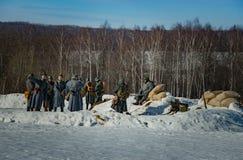 26 Februari 2017 de Vakantie van Maslenitsa in Borodino Stock Afbeeldingen